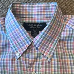 🔴 BROOKS BROTHERS PASTEL CHECKED SHIRT